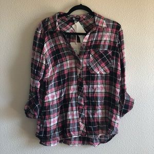NWT Pink and Black Flannel